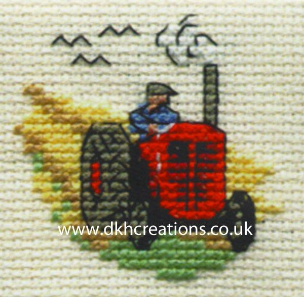 Red Tractor Cross Stitch Kit